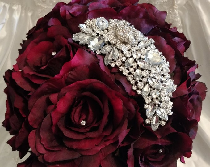 Romantic Burgundy Rose Bouquet