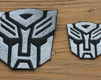"Transformers Autobot Symbol inpsired 3.75"" or 2.25"" iron-on patch"