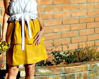 Weddings-Short Bridesmaid Dress-Bridesmaid Dress-Bridesmaid Dress Short-Top Separate-Wear Again Bridesmaid-Tissue Linen-No Measurements