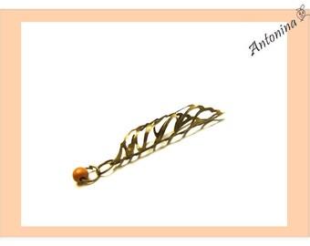Dreadcuff leaf Dreadtube Bronze color dread Tube Dread Jewelry Dreadbeads Dreadschmuck Dread Jewelry Dreadspiralen