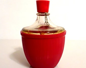 Vintage 1930s Fleurs d'Amour by Roger et Gallet 1 oz Pure Parfum Art Deco Red Celluloid Demijohn Bottle Vintage Perfume