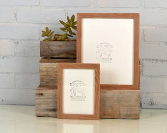 """BASIC Picture Frame - Natural CHERRY Solid Hardwood Gallery Wall Frames - Choose medium size 8x8, 7x9, 8x10, 9x9, 8x12, 8.5x11, A4 8.3x11.7"""""""