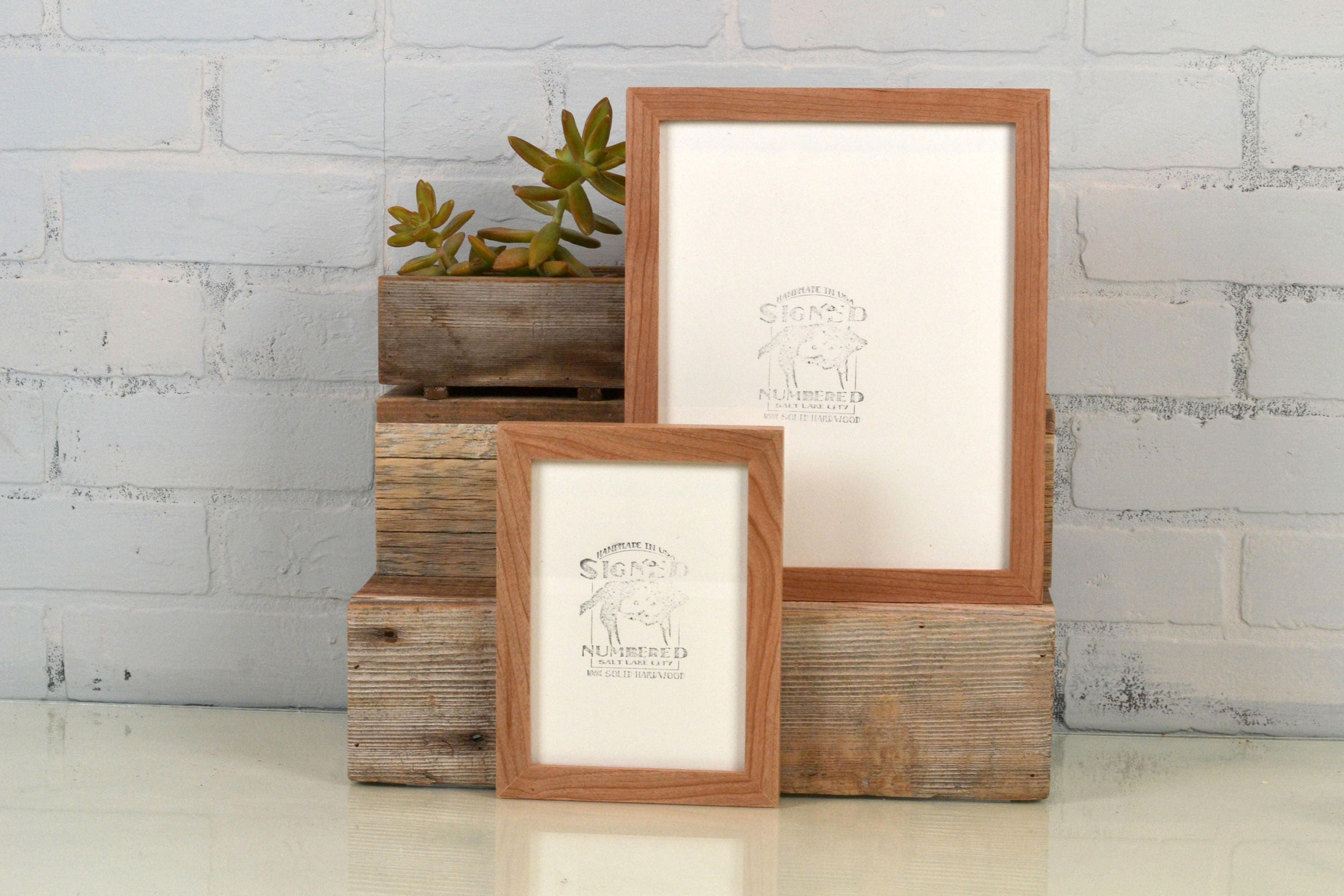Basic picture frame natural cherry solid hardwood gallery wall basic picture frame natural cherry solid hardwood gallery wall frames choose medium size 8x8 7x9 8x10 9x9 8x12 85x11 a4 83x117 jeuxipadfo Gallery