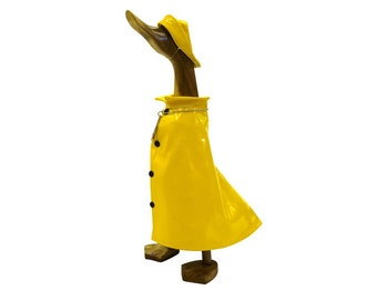 Wooden Duck - Lovely Weather For Ducks - In Yellow Raincoat