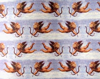 Cupid with bow and arrow wrapping paper