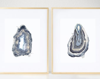 Any TWO Agate Watercolor Prints
