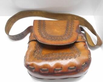 Vintage Solid Leather Satchel Purse (22)
