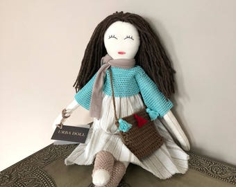 Sweet Handmade Doll, Unique Doll, 22' Doll, Timeless Doll, Limited Edition Doll, One of a Kind Doll, Decorative Doll, Doll for Gift, Dolls