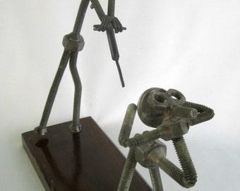 Steampunk Metal Art Handmade Underworld Industrial Gothic Decor Urban Sculpture Man Cave