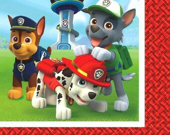 Paw Patrol Luncheon Party Napkins-16 count-NEW