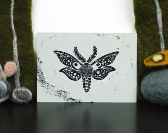 Carte postale lithographiée papillon