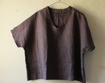 READY TO SHIP / linen blouse
