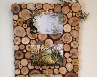 Wood Picture Board   Picture Frame   Rustic Picture Frame   Home Decor   Picture Display   Wall Hanging   Great Gift   Wooden Home Decor