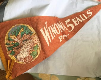 Old time pennant from Winona  Falls PA