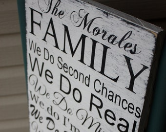 Family Rules Sign,Hand painted, Custom, Personalized, in this house sign, Wooden Sign, family rules wall deco Wedding gift,housewarming gift