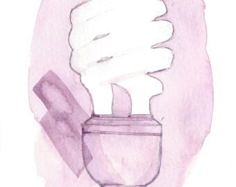 Purple Flourescent- ORIGINAL watercolor