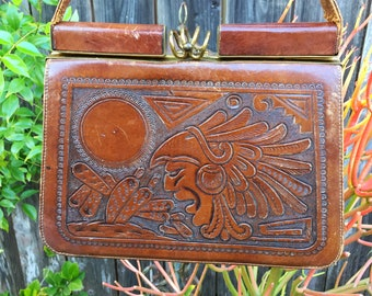Vintage Productos Olvera S.A. Leather Bag - Hecho En Mexico
