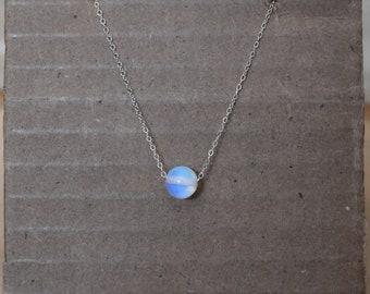 Minimalist Opalite Sterling Silver Necklace