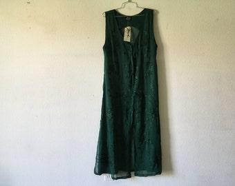 Vintage Transparent Dress Summer Sheer Cover Up