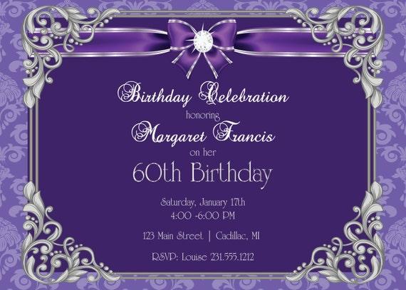 60th birtday invitations