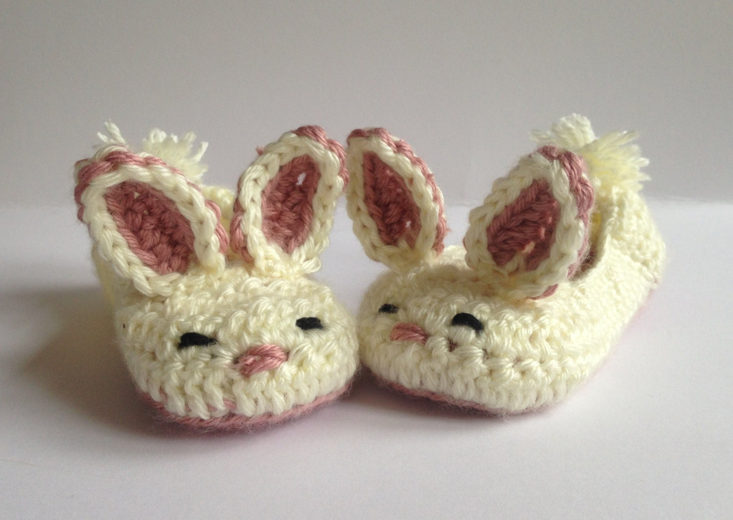 Girls bunny slippers crochet slipperseaster gift for kids zoom negle Image collections