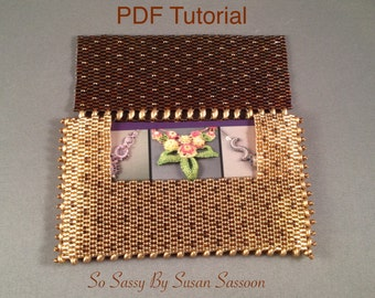 Beaded business card holder with SuperDuos Tutorial