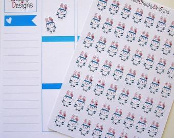 Kawaii Bunny Workout Stickers!  Perfect for Erin Condren Life Planner, MAMBI/Happy Planner, Plum Planner, Etc.