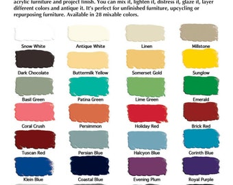 Milk Paint Pint Or Quart General Finishes *28 Colors Available* Comapre To