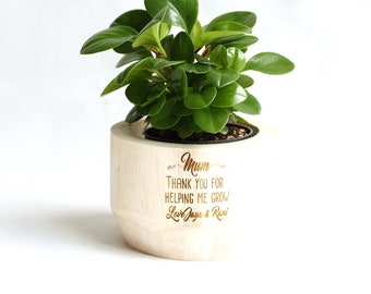 Mother's Day Personalised Timber Plant Pot