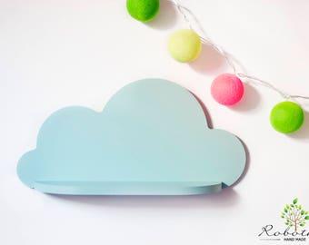 Cloud Shelf, Shelf For Baby Nursery, Kids Room, Wall Decorations, Decorations for Bedroom, Wooden Shelf, Decor, Wall Artwork Clouds