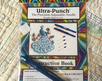 Cameo Ultra Punch Needle Three Piece Set Small Medium Large Tool Complete Needle Kit Needlepunch Needlework Embroidery