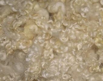 Border Leicester  Fleece, 1 ounces, Natural white