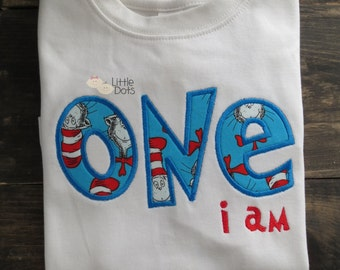 One i Am - 1st birthday applique shirt