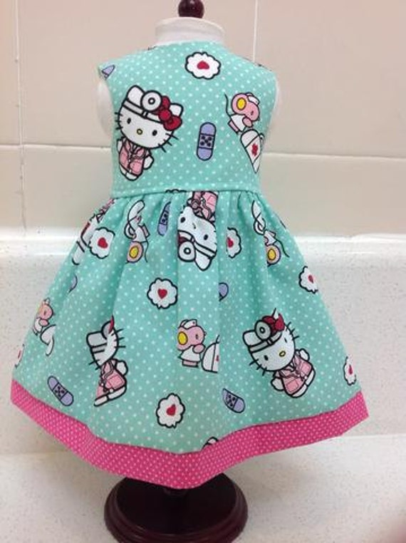 Hello Kitty Nurse Dress American Made 18 Inch Doll Clothes