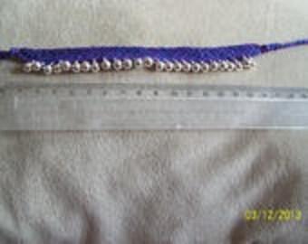 Purple, blue bracelet