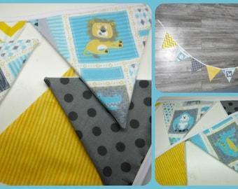 Garland Fabric, Fabric Banner Bunting, Pennant Flags wedding, smash the cake, birthday, nursery decor, photo prop, shower