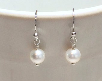 Pearl Earrings Stocking Stuffer Christmas Gifts Wedding Jewelry Bridesmaid Earrings Dangle Earrings Gift For Her