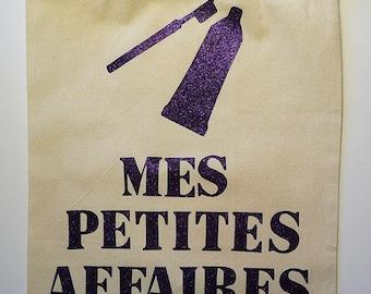 """Canvas bag """"Mes petites affaires"""""""