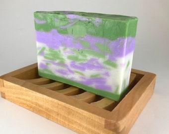 Basil Sage Mint soap, shea butter soap, handmade natural soap, homemade vegan soap, glycerin soap, detergent free, gift soap bars