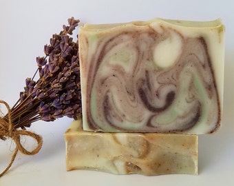 Lavender Rosemary Soap - Homemade Soap, Vegan Soap, Cold Process Soap, Gifts for Her, Gifts for Him, Small Giftables, Just Because