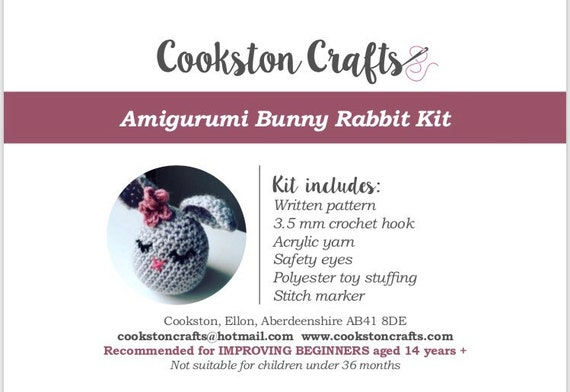 Crochet Kit - Easter Bunny - Amigurumi - full video tutorial available!