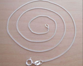 """925 Sterling Silver 18"""" / 46 cm Long Curb Chain"""