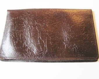 Lovely warm brown real leather wallet with chocolate brown lining, Made in England
