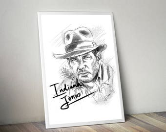 Indiana Jones Gliceé Art/Canvas Print [Limited Edition]