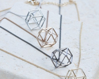 Long 3D Ball Necklace Geometric Fun Stylish Gift Idea