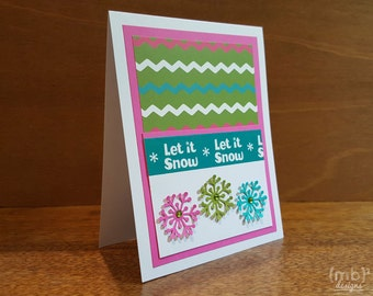 Let It Snow Set of 12 Christmas Cards