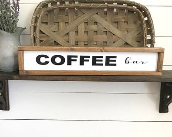 COFFEE BAR  I  Farmhouse Decor I Home Decor I Rustic Decor I Wood Sign I Inspirational Decor I Painted Wood Sign