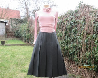 Pleated Skirt / Pleated Skirts / Gray Pleated Skirt / Grey Pleated Skirt / Pleated Skirt SizeEUR42 / UK14 / Accordion Skirt / Thicker Poly