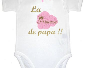 Message Daddy's Princess Bodysuit