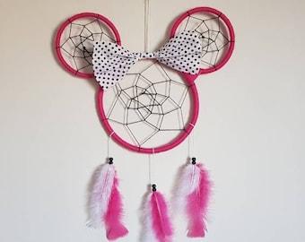 Pink Minnie Mouse Dreamcatcher